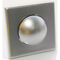 BOUTON + ROSACE 16mm ABS CHROME BRILLANT